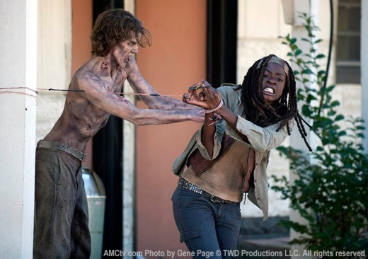 Walking Dead 3.15 Michonne fighting